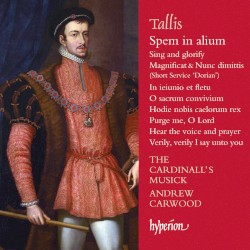 Spem in alium & Other Sacred Music by Tallis ;   The Cardinall's Musick ,   Andrew Carwood