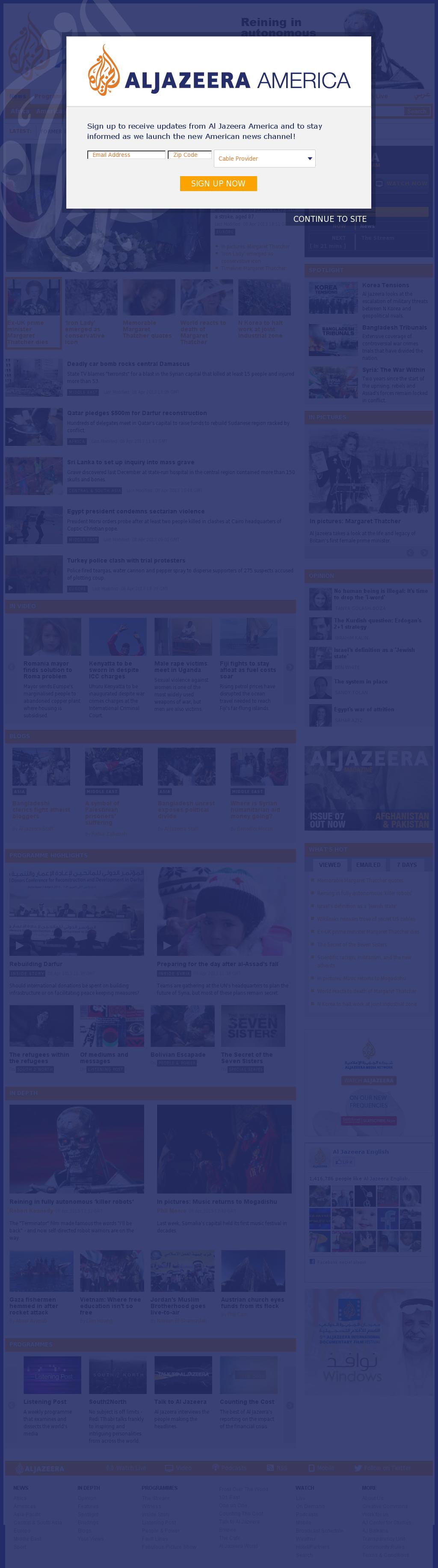Al Jazeera (English) at Monday April 8, 2013, 7:10 p.m. UTC