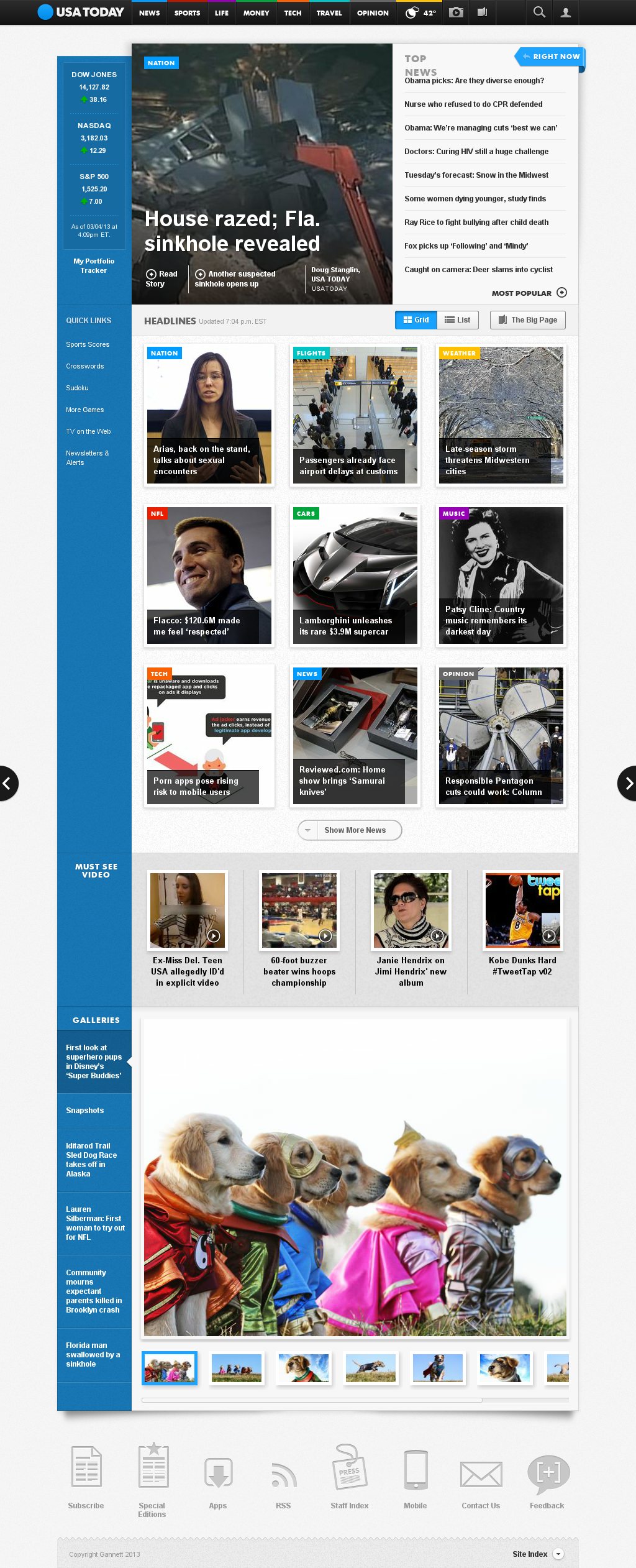 USA Today at Tuesday March 5, 2013, 12:26 a.m. UTC