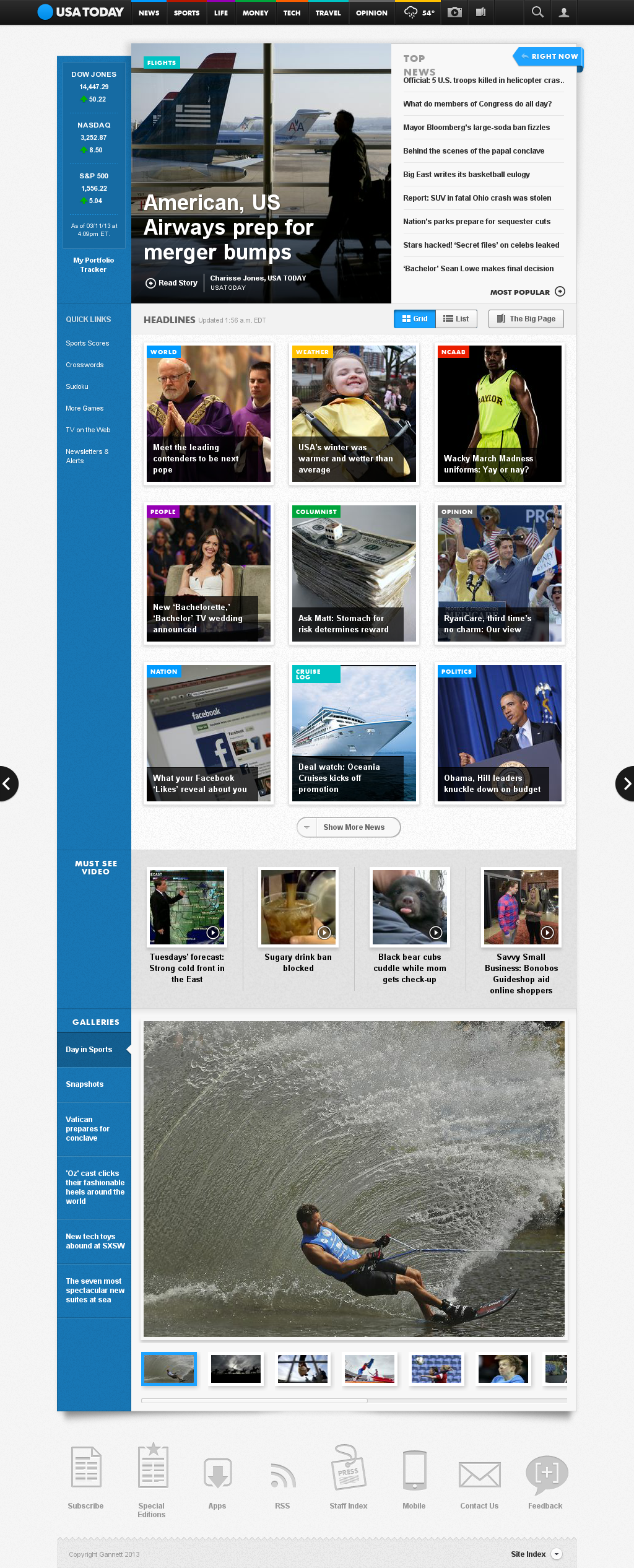 USA Today at Tuesday March 12, 2013, 6:27 a.m. UTC
