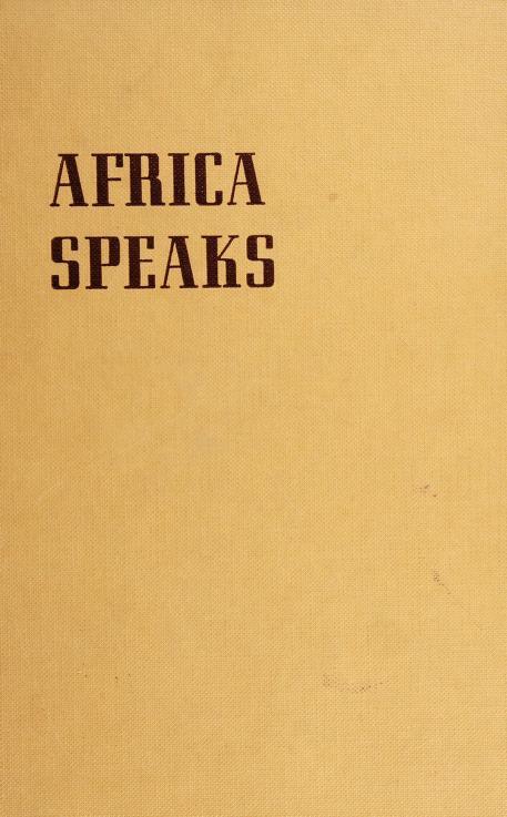 Africa speaks by Duffy, James
