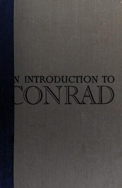 An introduction to Conrad by Joseph Conrad