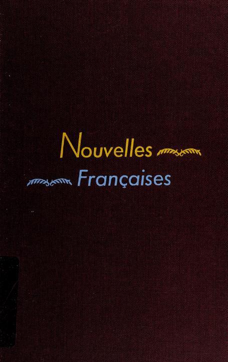 Nouvelles françaises (19e-20e siècles) by Marie Louise Michaud Hall