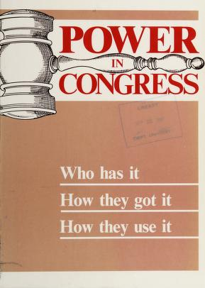 Cover of: Power in Congress |