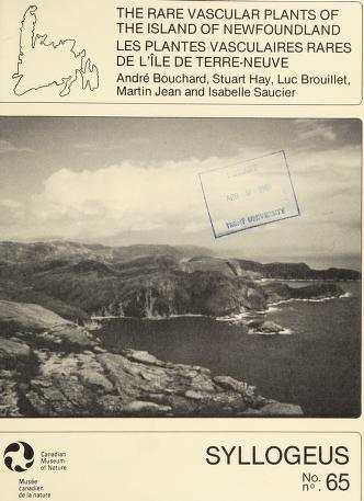 Cover of: The Rare vascular plants of the Island of New foundland = | André Bouchard ... [et al.].