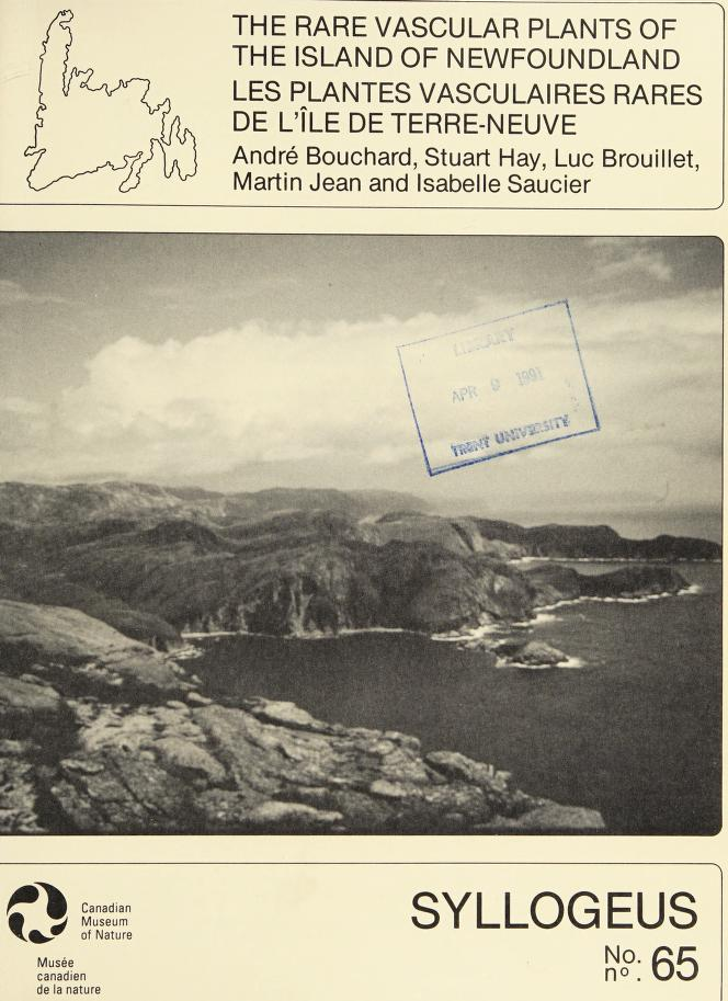 The Rare vascular plants of the Island of New foundland = by André Bouchard ... [et al.].
